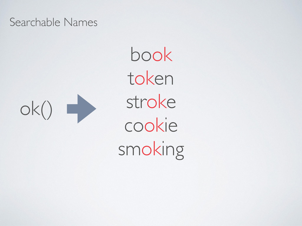 Searchable Names ok() book token stroke cookie ...
