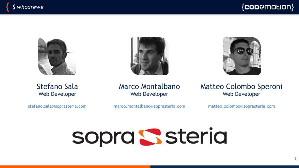 Stefano Sala Web Developer stefano.sala@soprast...