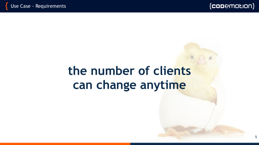 Use Case - Requirements 5 the number of clients...