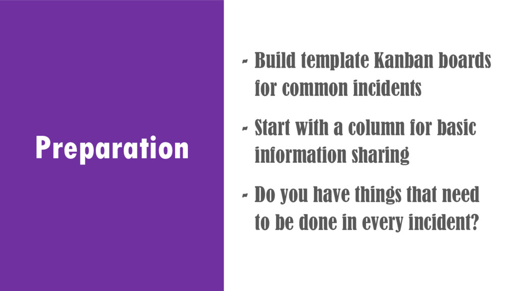 Preparation - Build template Kanban boards for ...