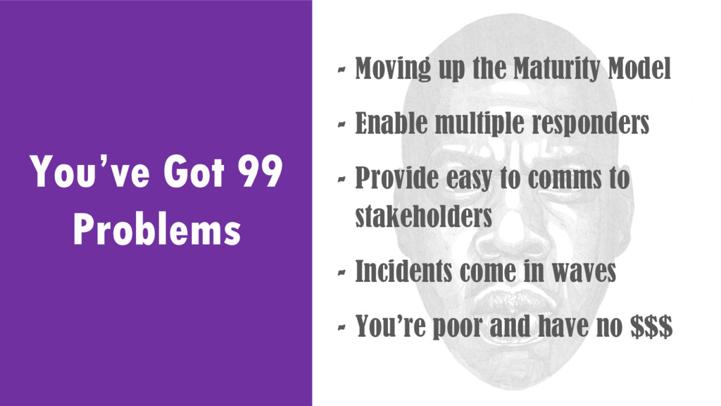 You've Got 99 Problems - Moving up the Maturity...