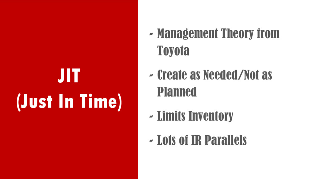 JIT (Just In Time) - Management Theory from Toy...
