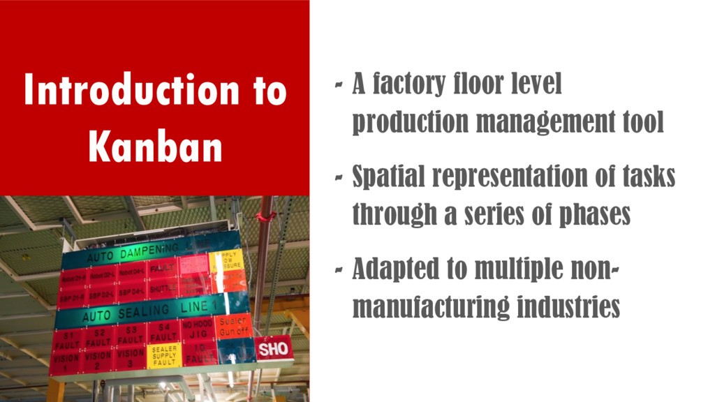 Introduction to Kanban - A factory floor level ...
