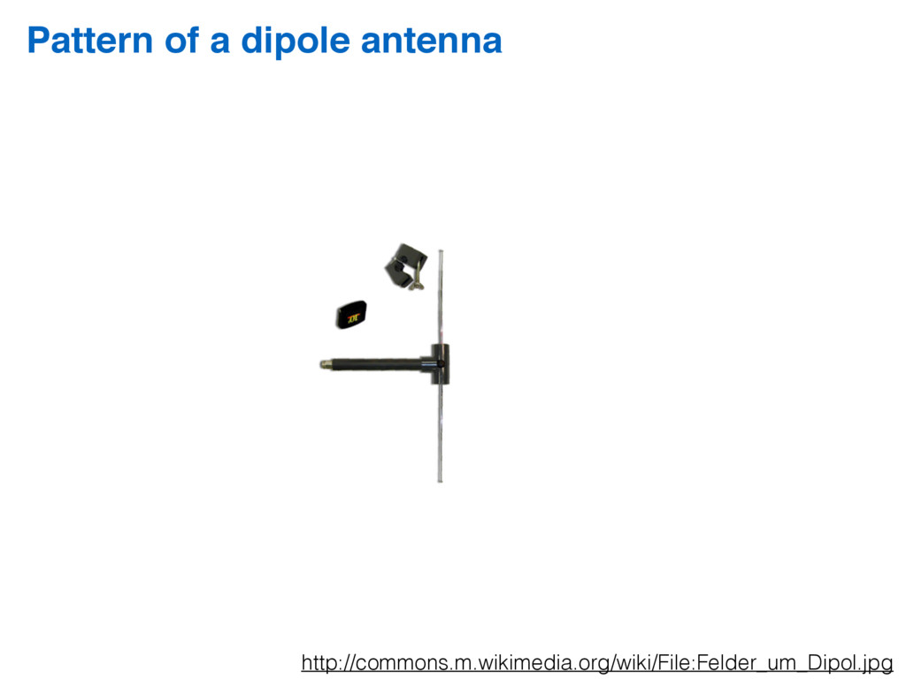 Pattern of a dipole antenna http://commons.m.wi...