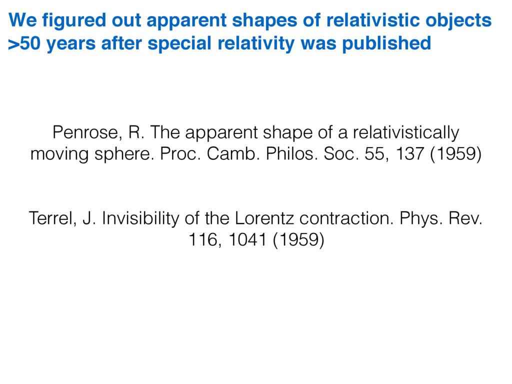 Penrose, R. The apparent shape of a relativisti...