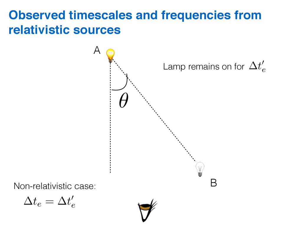 Observed timescales and frequencies from relati...