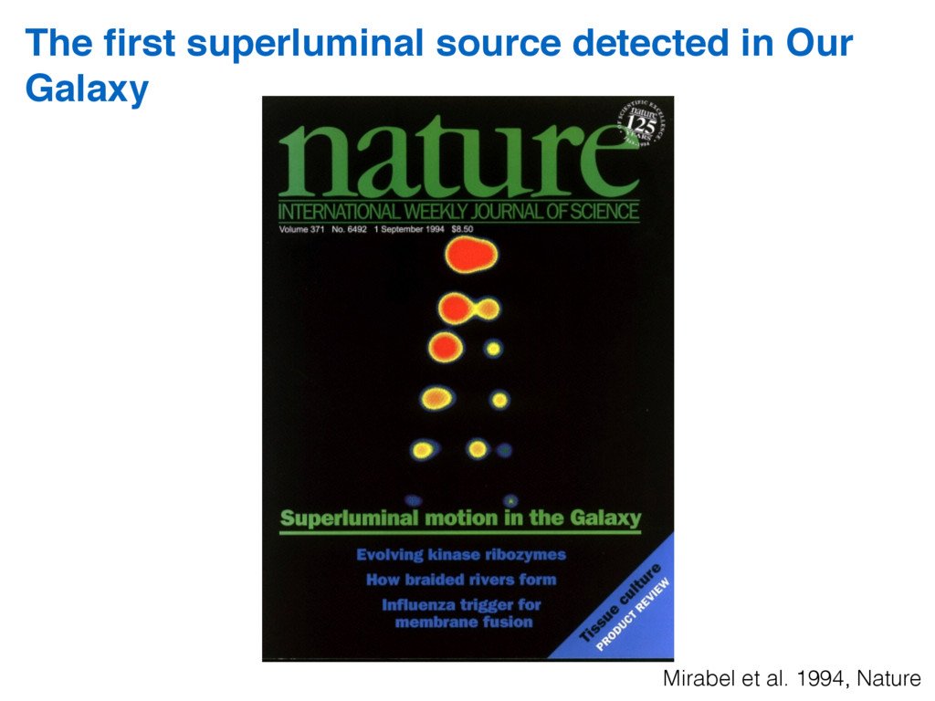 The first superluminal source detected in Our Ga...