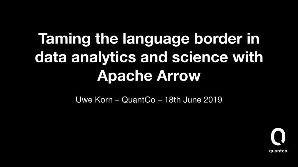 Taming the language border in data analytics an...
