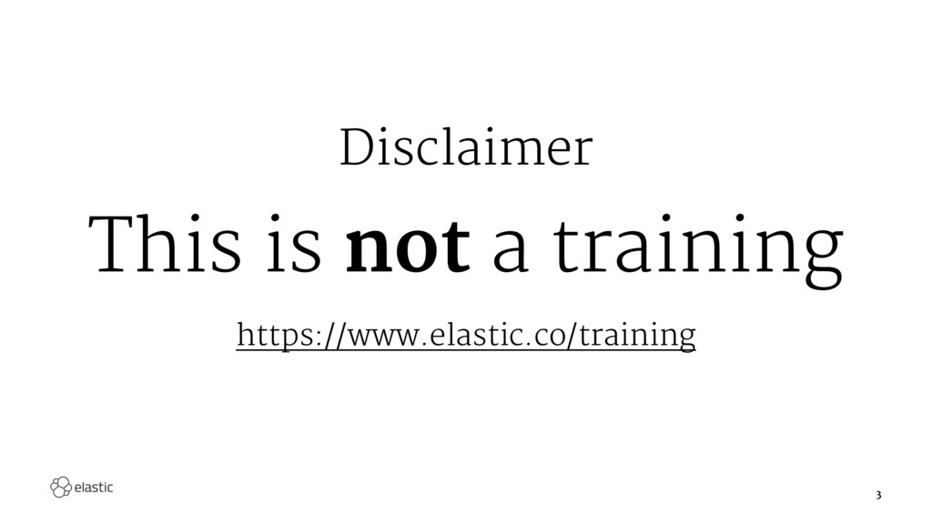 Disclaimer This is not a training https://www.e...