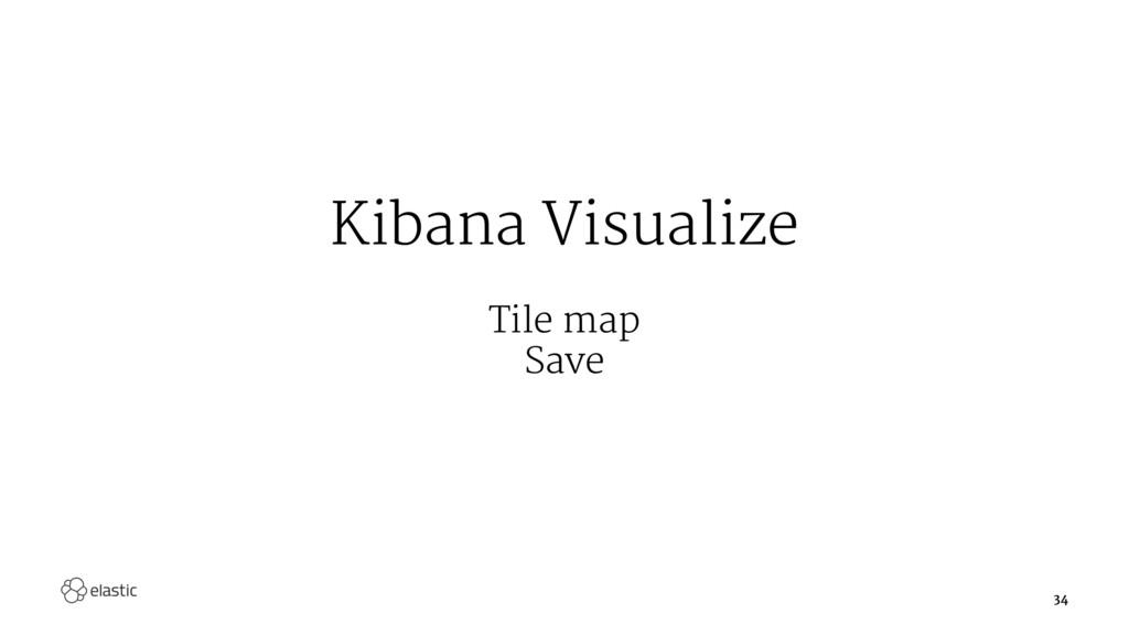 Kibana Visualize Tile map Save 34