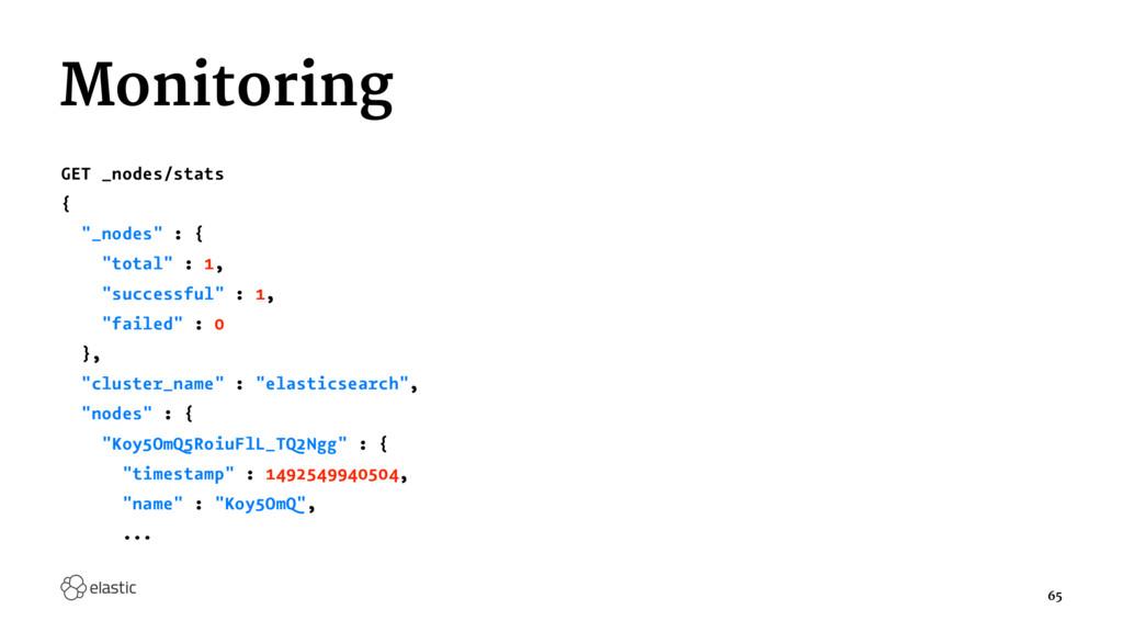 """Monitoring GET _nodes/stats { """"_nodes"""" : { """"tot..."""