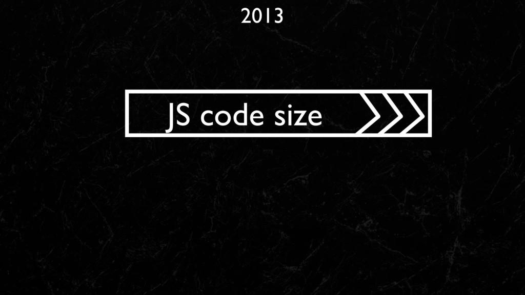 2013 JS code size