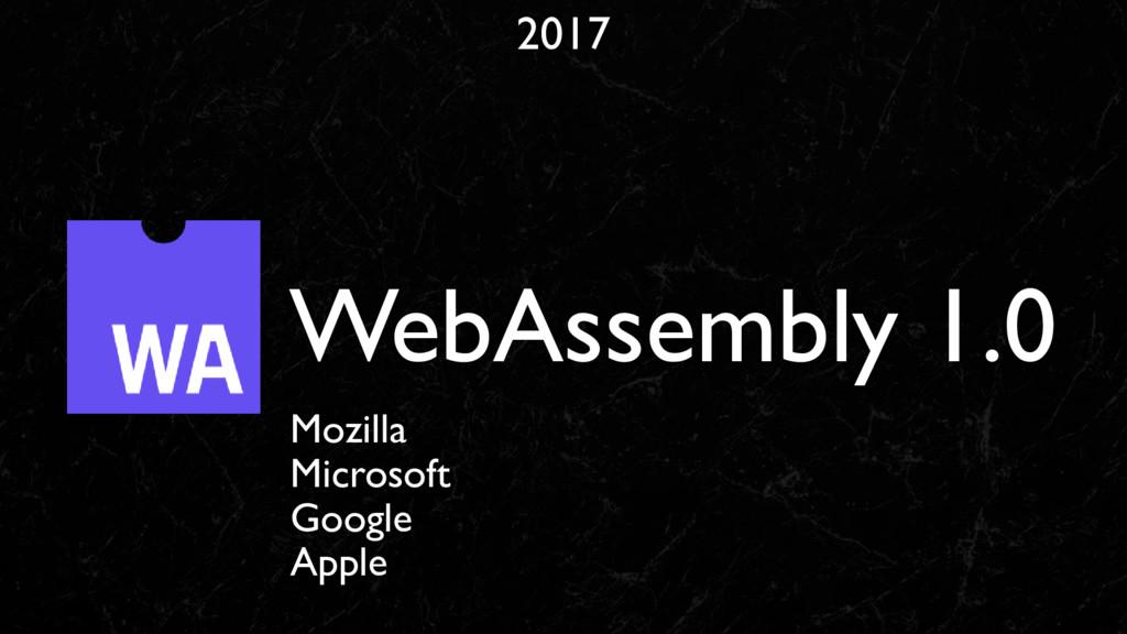 2017 WebAssembly 1.0 Mozilla Microsoft Google A...
