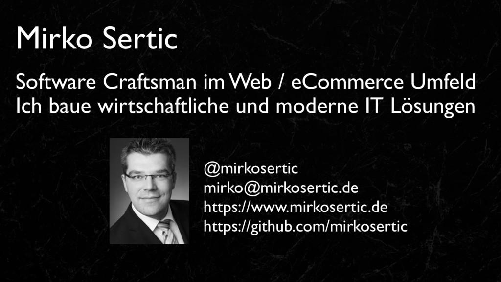 Mirko Sertic Software Craftsman im Web / eComme...