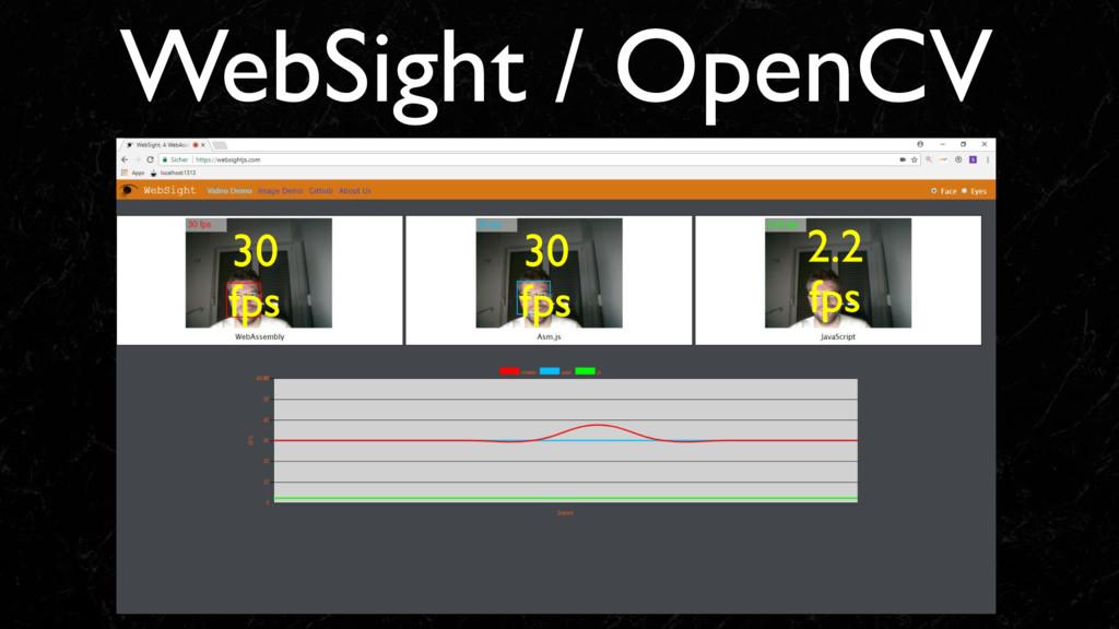 WebSight / OpenCV 30 fps 30 fps 2.2 fps