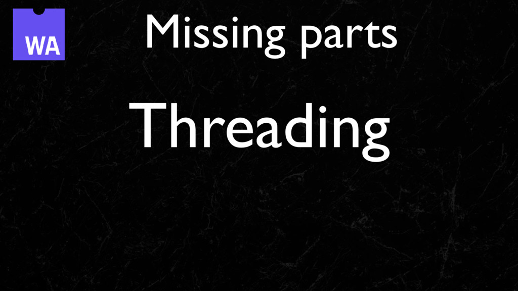 Threading Missing parts
