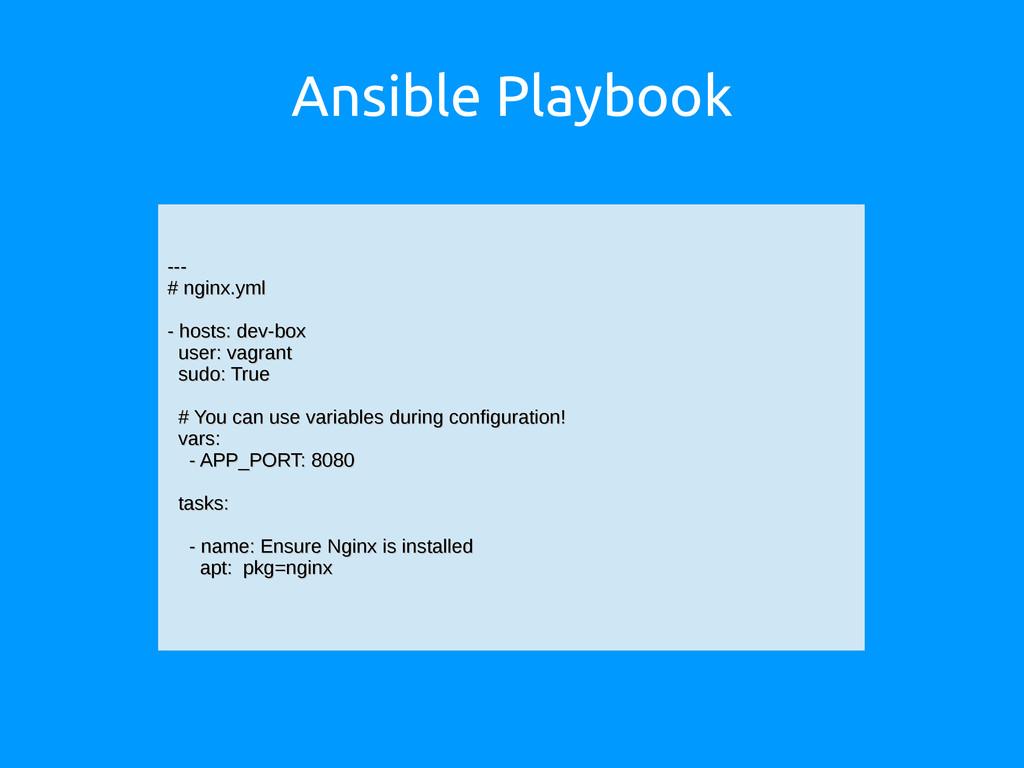 Ansible Playbook --- --- # nginx.yml # nginx.ym...
