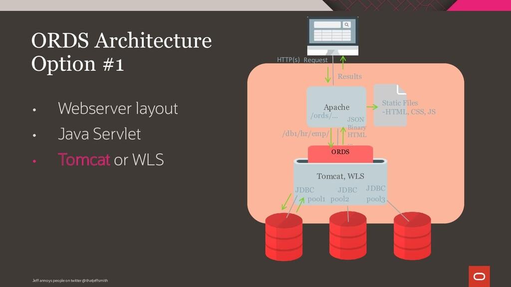 • Webserver layout • Java Servlet • Tomcat or W...