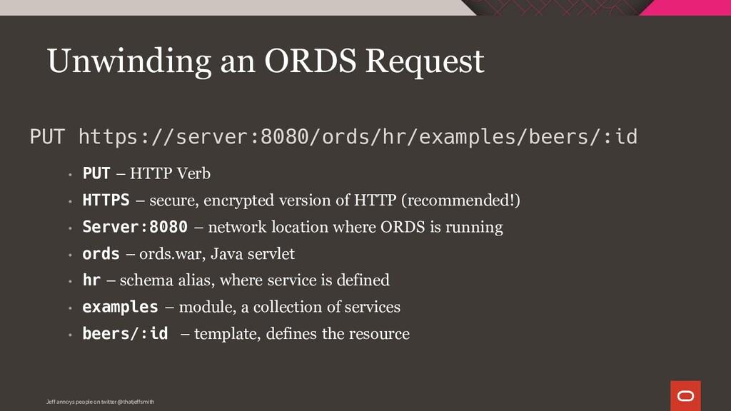 • PUT – HTTP Verb • HTTPS – secure, encrypted v...