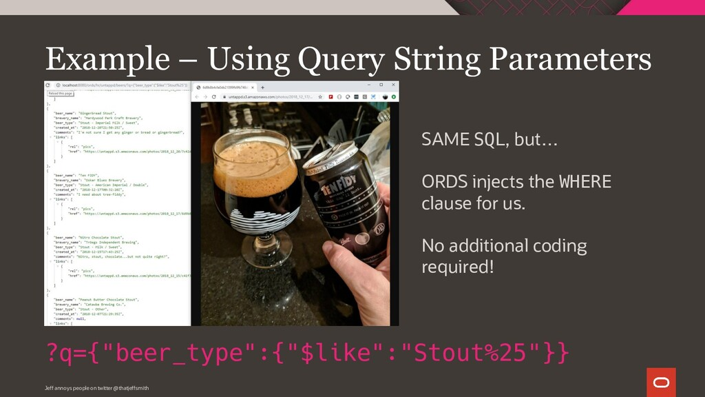 """Example – Using Query String Parameters ?q={""""be..."""