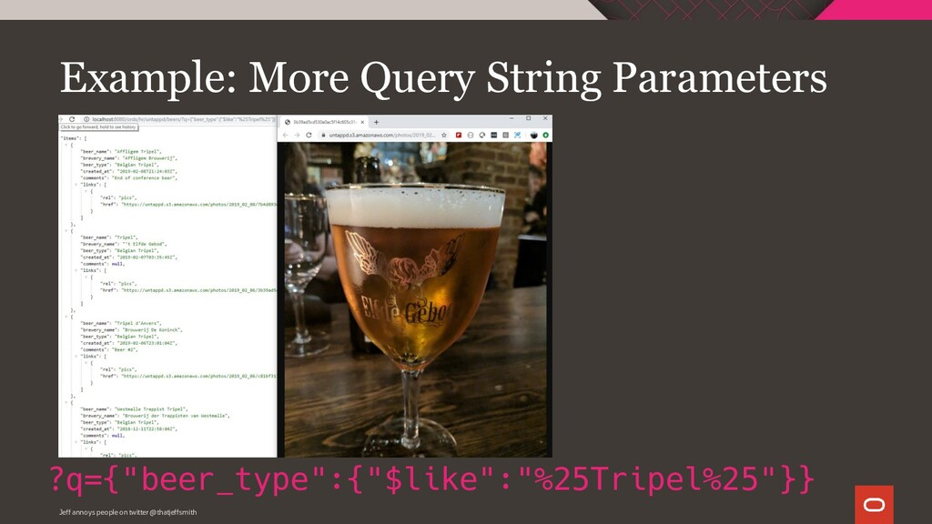 """Example: More Query String Parameters ?q={""""beer..."""