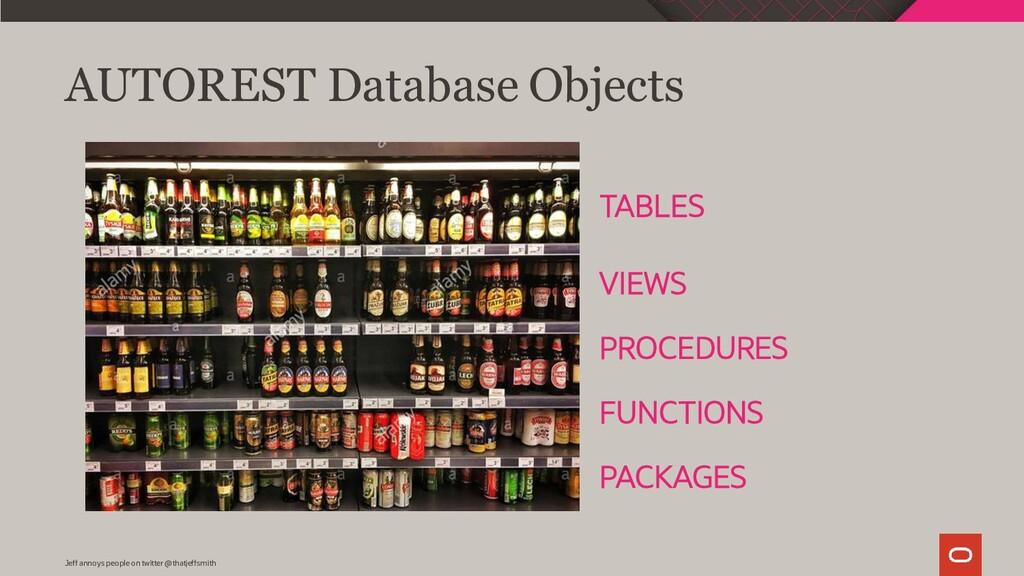 AUTOREST Database Objects TABLES VIEWS PROCEDUR...