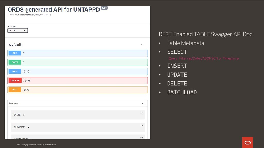 REST Enabled TABLE Swagger API Doc • Table Meta...