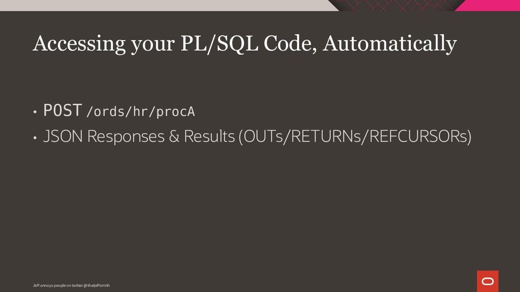 • POST /ords/hr/procA • JSON Responses & Result...