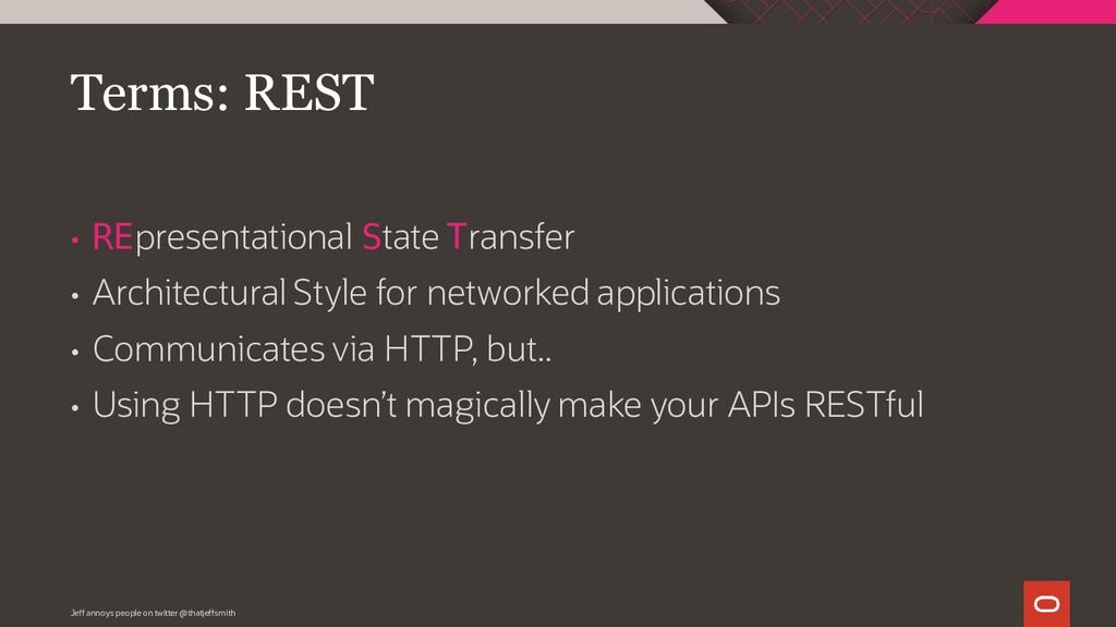 • REpresentational State Transfer • Architectur...