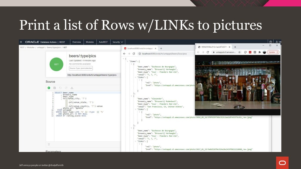Print a list of Rows w/LINKs to pictures Jeff a...