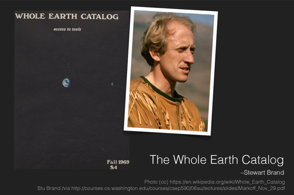 The Whole Earth Catalog –Stewart Brand Photo (c...