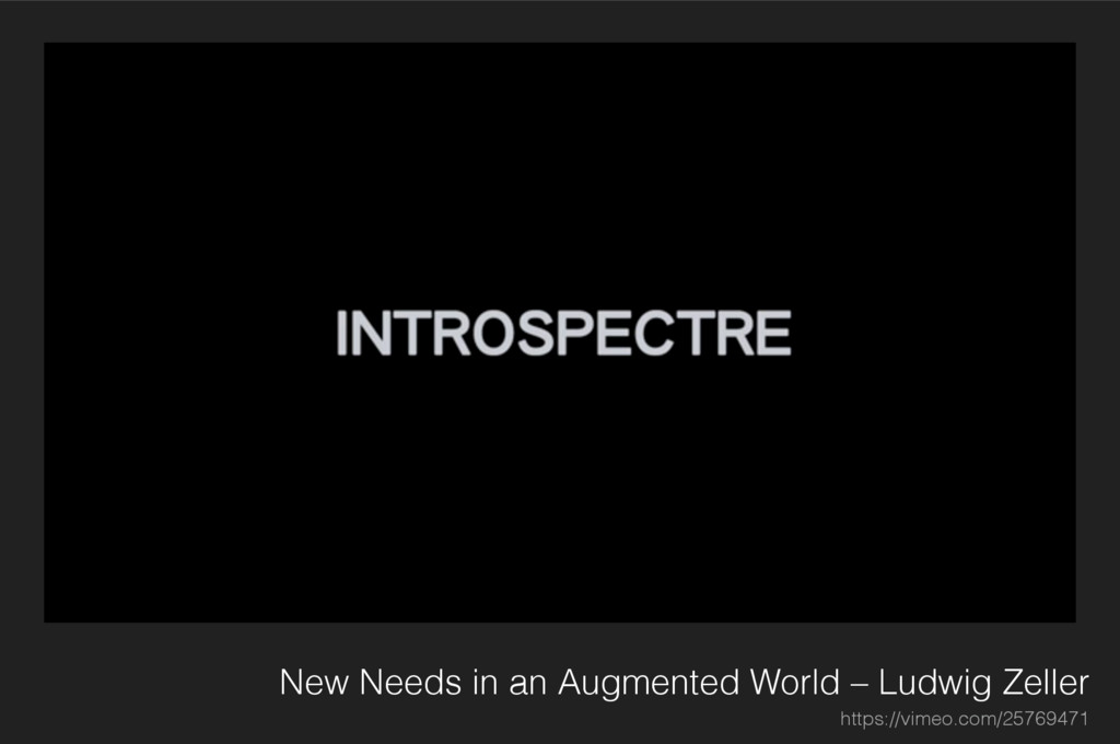 New Needs in an Augmented World – Ludwig Zeller...