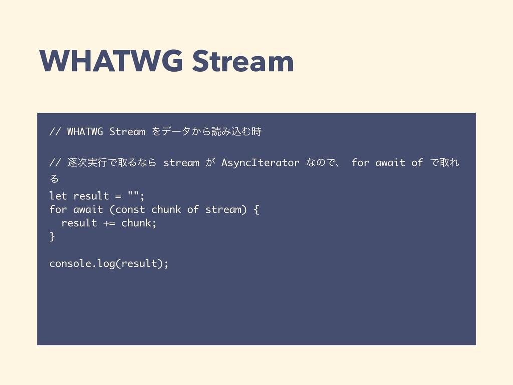 WHATWG Stream // WHATWG Stream Λσʔλ͔ΒಡΈࠐΉ // ஞ...
