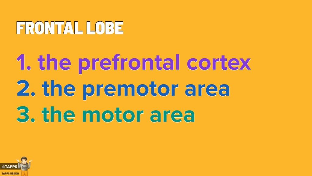FRONTAL LOBE 1. the prefrontal cortex 2. the pr...