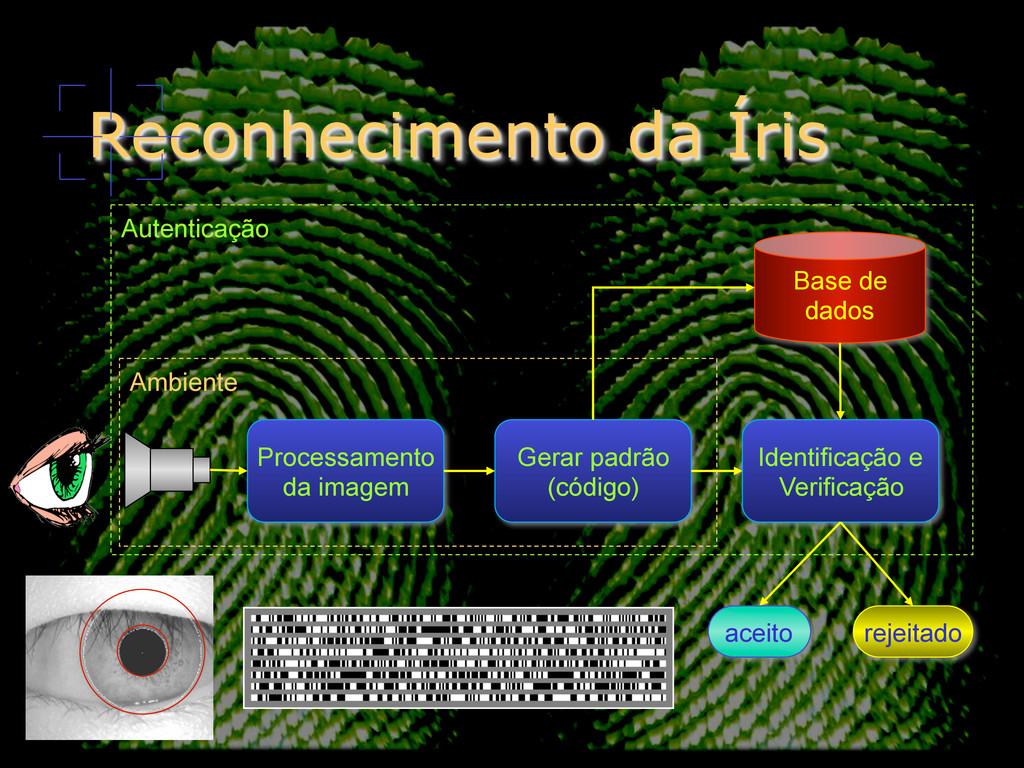 Reconhecimento da Íris Processamento da imagem ...
