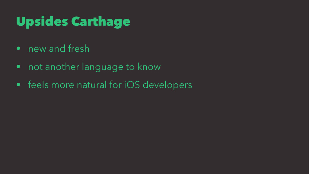 Upsides Carthage • new and fresh • not another ...
