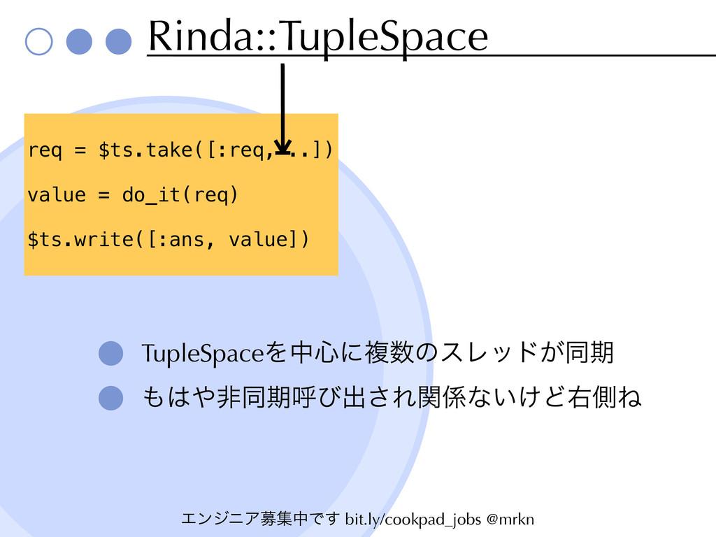 ΤϯδχΞืूதͰ͢ bit.ly/cookpad_jobs @mrkn Rinda::Tup...