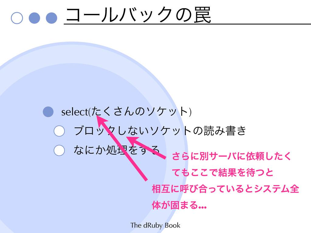 The dRuby Book ίʔϧόοΫͷ᠘ select(ͨ͘͞Μͷιέοτ) ϒϩοΫ͠...