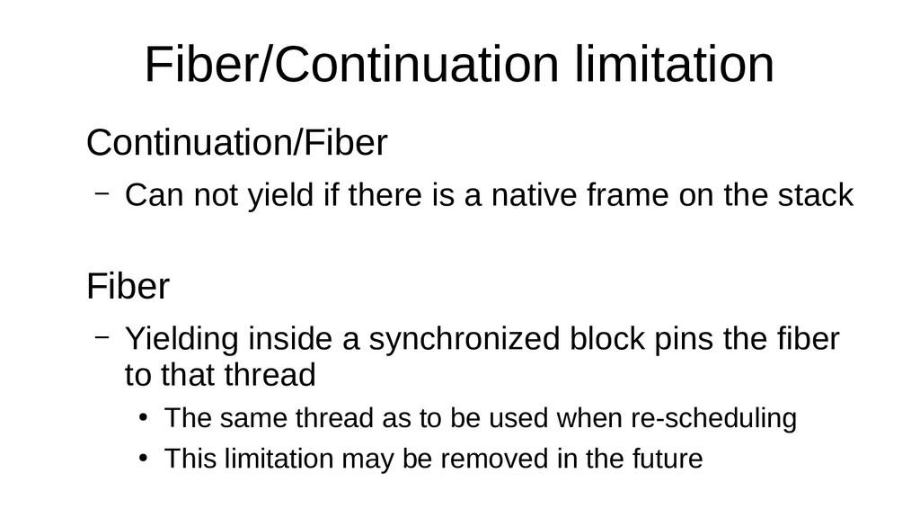 Fiber/Continuation limitation Continuation/Fibe...