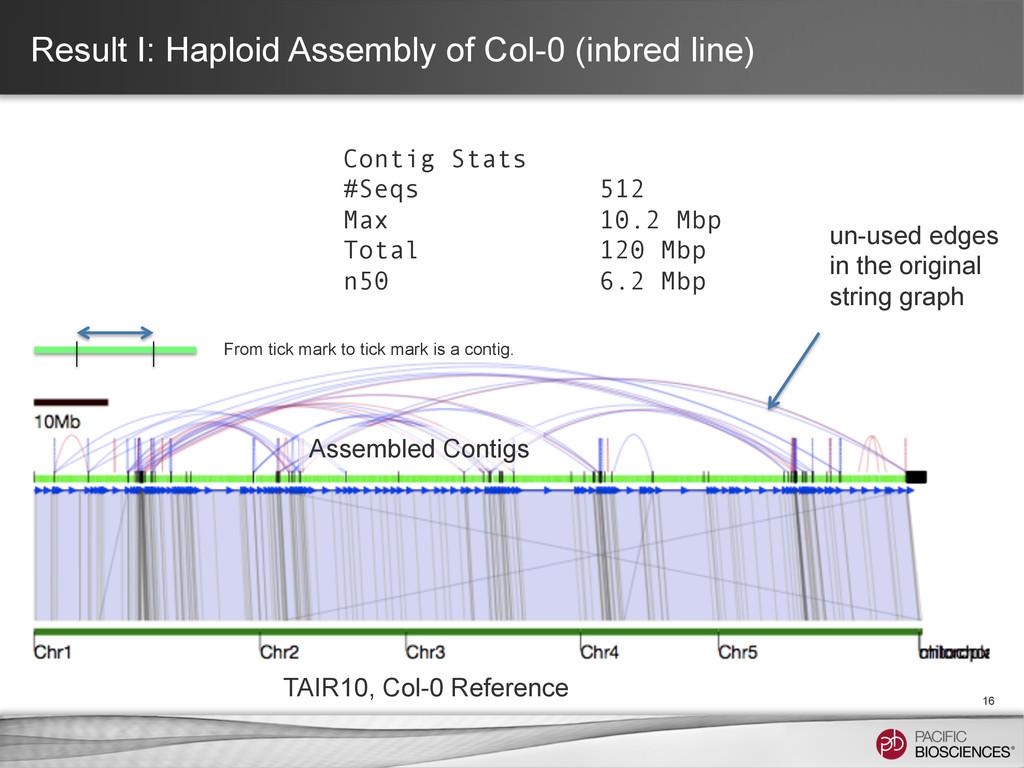 Result I: Haploid Assembly of Col-0 (inbred lin...