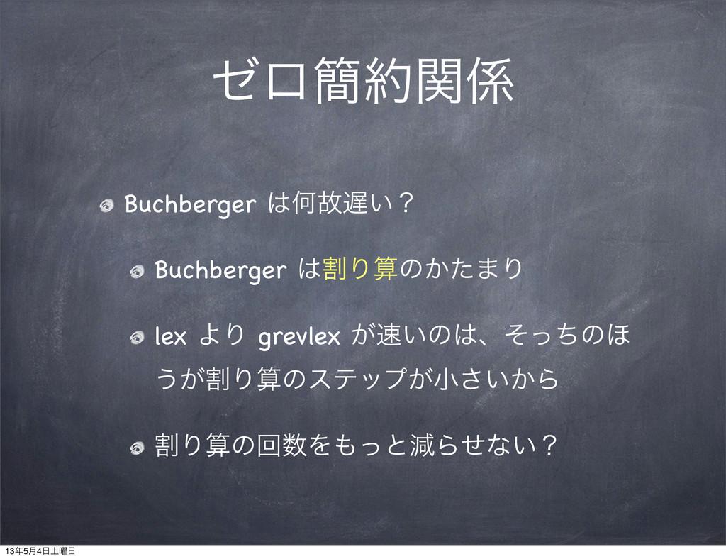 θϩ؆ؔ Buchberger Կނ͍ʁ Buchberger ׂΓͷ͔ͨ·Γ l...