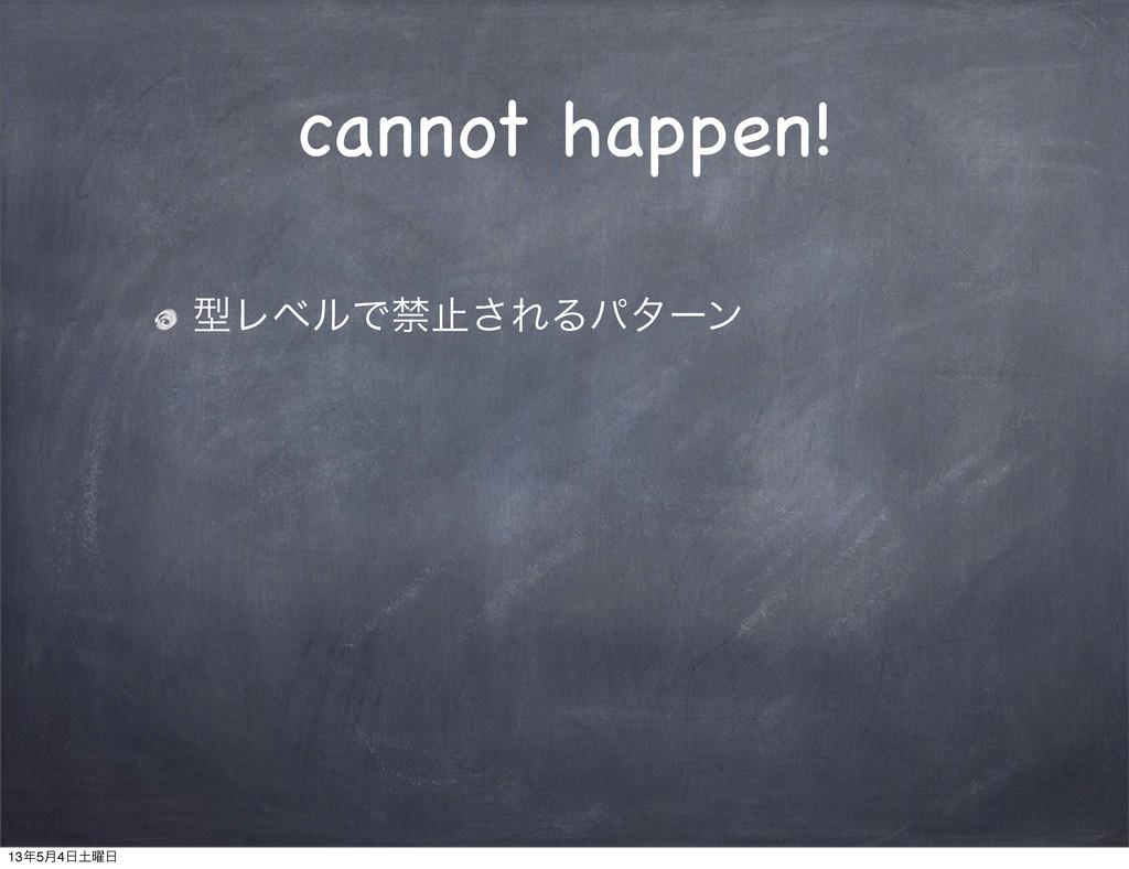 cannot happen! ܕϨϕϧͰېࢭ͞ΕΔύλʔϯ 135݄4༵