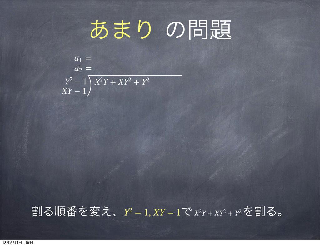 ͋·Γ ͷ a1 = a2 = Y2−1 XY−1 X2Y+XY2+...
