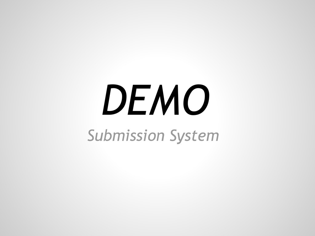 DEMO Submission System
