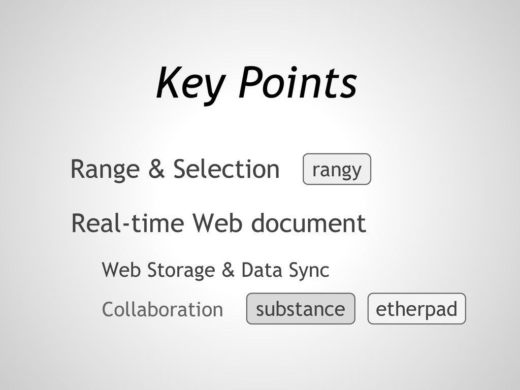 Web Storage & Data Sync Key Points Real-time We...