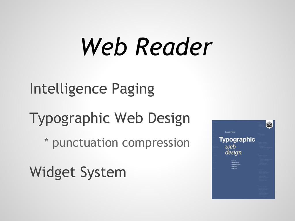 Web Reader Typographic Web Design Intelligence ...