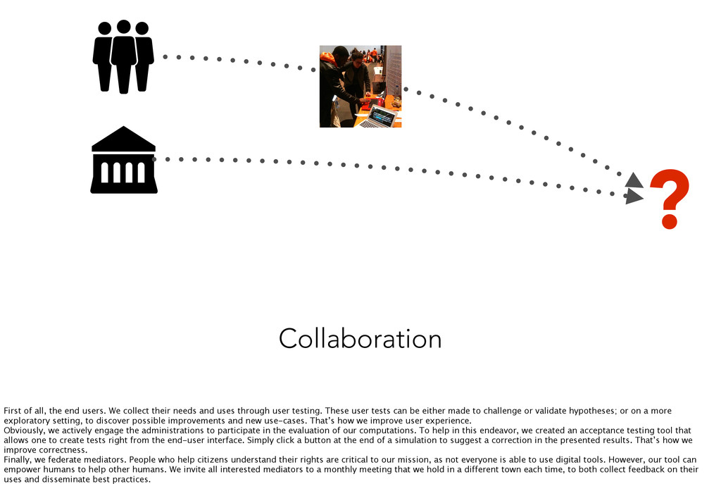 Collaboration ? First of all, the end users. We...