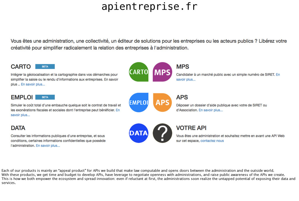 apientreprise.fr Each of our products is mainly...