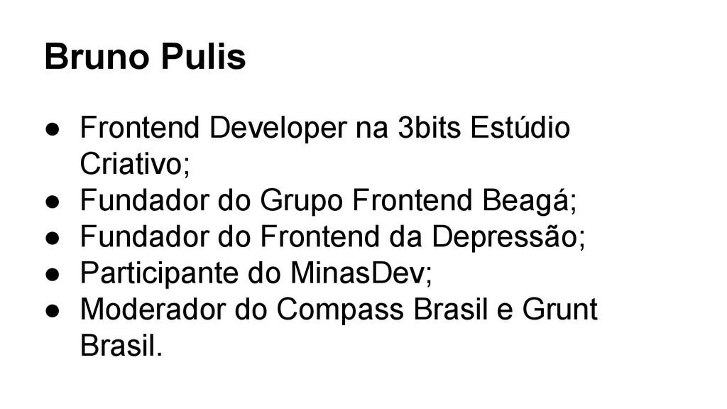 Bruno Pulis ● Frontend Developer na 3bits Estúd...