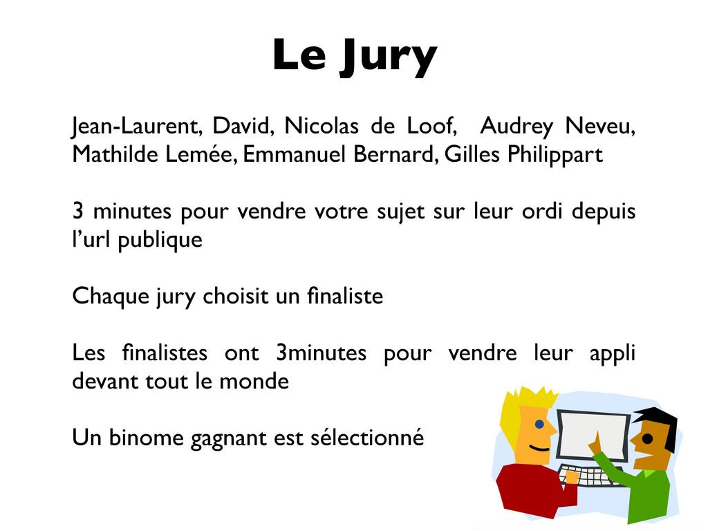 Le Jury Jean-Laurent, David, Nicolas de Loof, A...